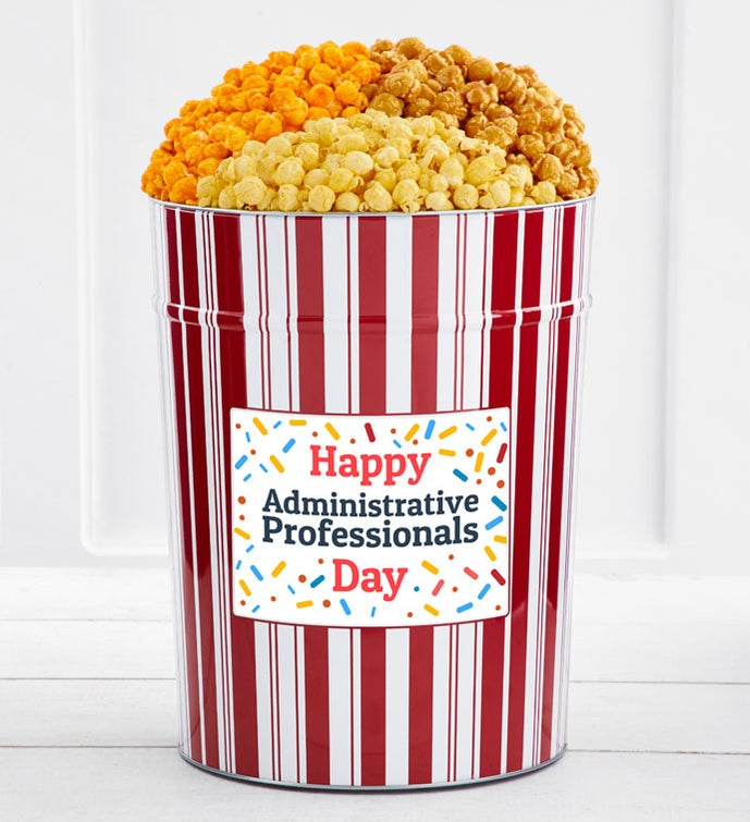 Tins With Pop® 4 Gallon Happy Administrative Professionals Day Confetti