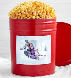Deals on Simply Red Popcorn Tins with Winter Magnet Photo Frame