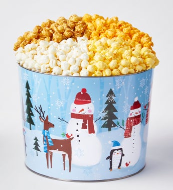 Snow Day 2 Gallon 4-Flavor Popcorn Tin