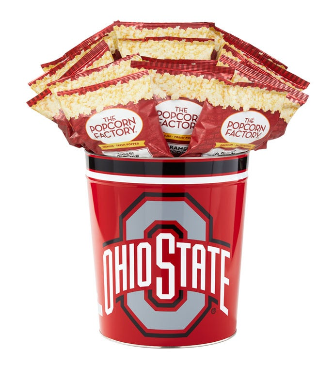 3 Gallon Ohio State University 3-Flavor Popcorn Tins