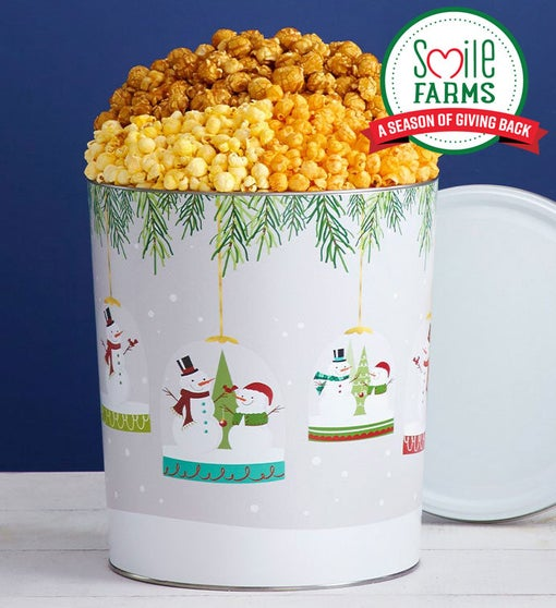 Magical Holiday 3 1/2 Gallon Popcorn Tin