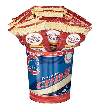 Chicago Cubs 3-Flavor Popcorn Tins