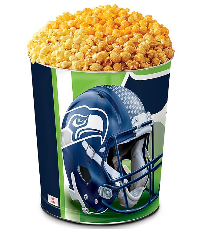 Seattle Seahawks 3-Flavor Popcorn Tins