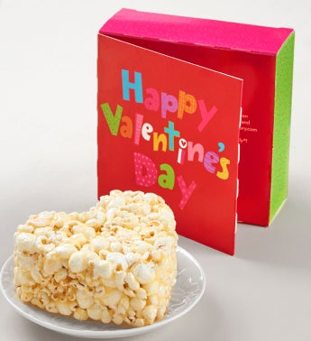 Happy Valentines Day Popcorn Heart Card