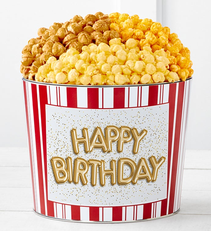 Tins With Pop® Happy Birthday Gold Balloons