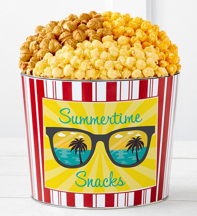 Tins With Pop® Summertime Snacks