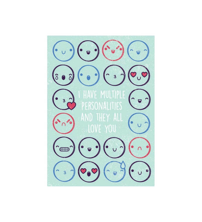 Cards With Pop™ Multiple Personalities Smiley